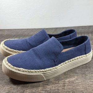 Toms slip on shoes jute trim size 8.5